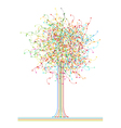 Colored abstract network tree vector image vector image