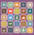 contact us flat icons on purple background vector image vector image