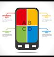 creative mobile info-graphics design concept vector image vector image