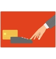 credit card spend vector image vector image