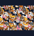 cute greeting card with cartoon dogs different vector image vector image