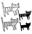 design with stylized cats vector image