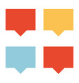 different colored talk clouds vector image