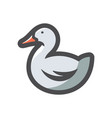 duck domestic bird icon cartoon vector image