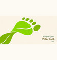 earth day green leaf carbon footprint concept vector image vector image