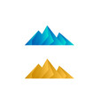 elegant low poly mountain vector image vector image
