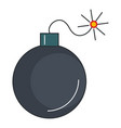 explosive bomb isolated icon vector image vector image