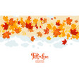 fall leaves card vector image vector image