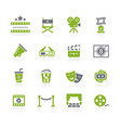 film industry and theater icons natura series vector image vector image