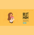 flat banner the best mom vector image