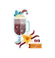 fragrant coffee drink with whipped cream vanilla vector image vector image