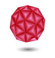 geometric red vector image vector image