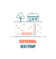geothermal energy logo template flat style icon vector image vector image