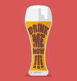 Glass of beer drink me now vector image vector image