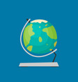 globe flat icon isolated on color background vector image vector image