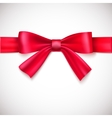 Green ribbon with bow vector image vector image