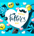greeting card for father s day decorative vector image vector image