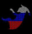 halftone russian alien embryo icon vector image