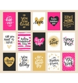 Hand drawn Valentines Day collection lettering vector image