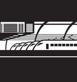high speed trains on platform at railway station vector image vector image
