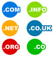icons with labels for web related services vector image