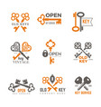 key logo real estate padlocks emblems and badges vector image vector image