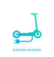 kick scooter electric transport icon on white vector image