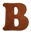 Leather textured letter B vector image vector image