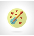 Love melody icon flat style vector image vector image