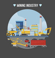 mining industry excavator vector image