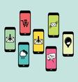mobilni social media2 resize vector image vector image