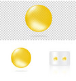 mock up realistic transparent pill yellow vector image vector image