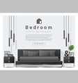 Modern bedroom background Interior design 6 vector image vector image