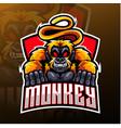 monkey esport mascot logo design vector image