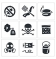 No insects icon set vector image