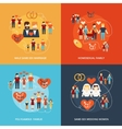 Non-traditional family icons composition vector image