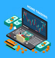 online trading stock exchange composition vector image vector image