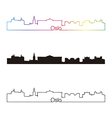oslo skyline linear style with rainbow vector image vector image