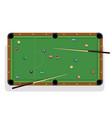 pool table billiard stick and billiard balls for vector image vector image