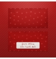 realistic christmas envelope template for santa vector image