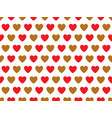 red and gold heart shape pattern vector image