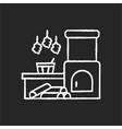 russian banya chalk white icon on black background vector image