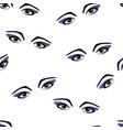 seamless pattern eyes and eyelashes vector image vector image