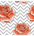 seamless pattern with image pink rose flowers on a vector image