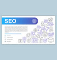 seo web banner business card template search vector image
