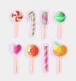 set bright candies set colorful vector image