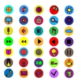 Set colorful icons vector image
