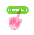 Social Media Symbol - Hand Icon Pushing vector image