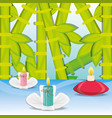 spa decoration candles with flowers and bamboo vector image