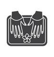 spa salon nails bath glyph icon vector image vector image